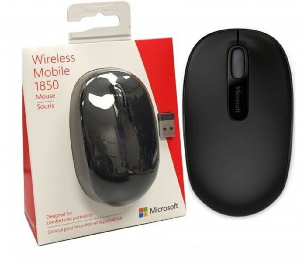 Mouse Wireless Microsoft 1850 Preto