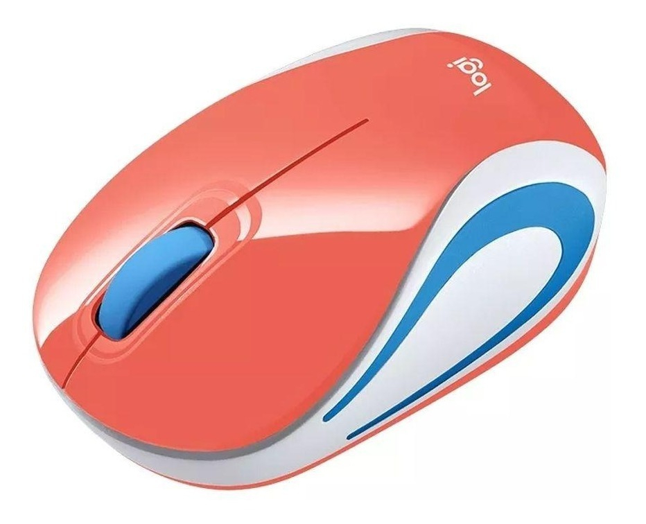 Mouse Wireless Logitech M187 Coral