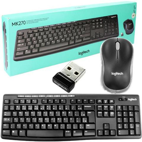 Teclado Multimidia e Mouse Mk270 Logitech Wireless