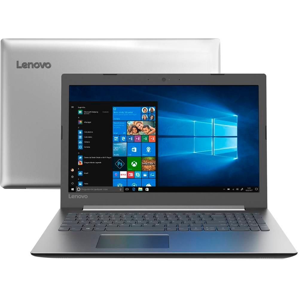 NOTEBOOK LENOVO IDEAPAD 330, INTEL CORE I5-8250U, 4GB, 1TB, WINDOWS 10 HOME, 15.6´, PRATA - 81FE0002BR